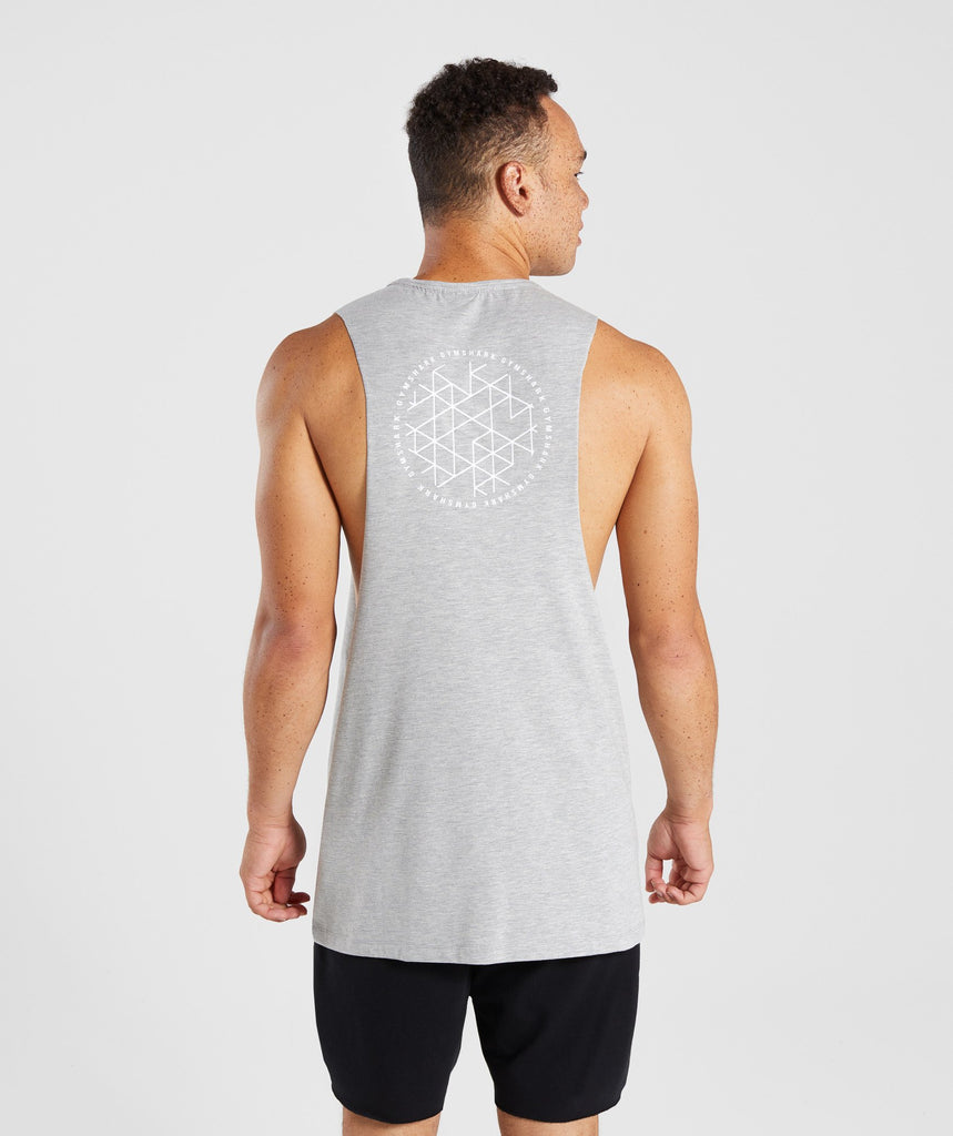 Gymshark Geo Tank - Light Grey Marl 2
