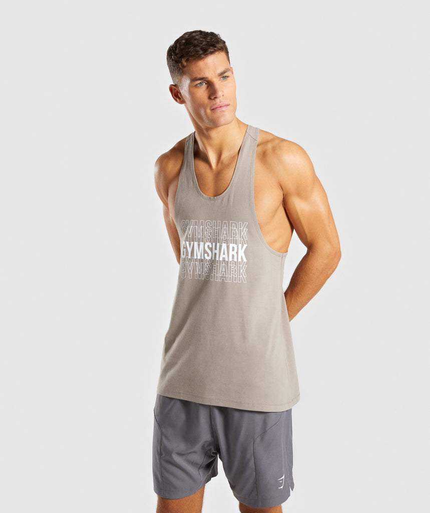 Gymshark Haze Stringer - Driftwood Brown 1