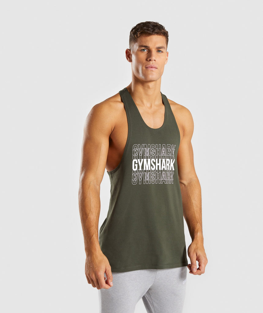 Gymshark Haze Stringer - Woodland Green 4