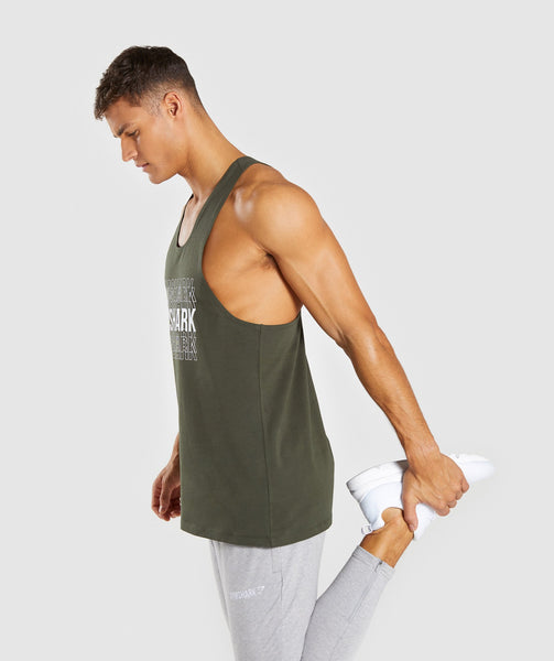 Gymshark Haze Stringer - Woodland Green 2