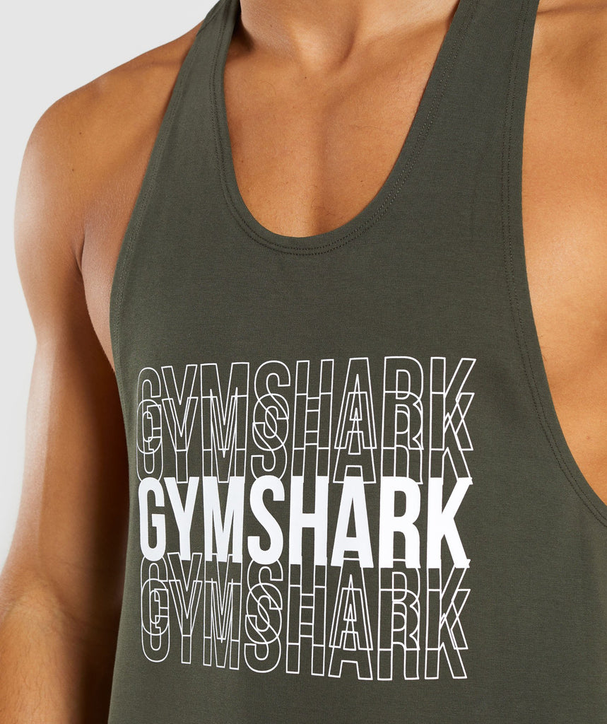 Gymshark Haze Stringer - Woodland Green 5