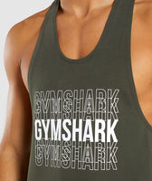 Gymshark Haze Stringer - Woodland Green 11