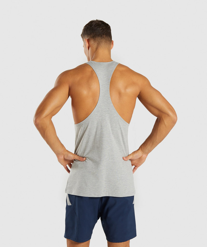 Gymshark Score Stringer - Light Grey Marl 2