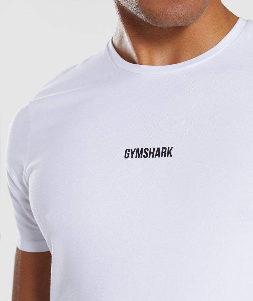 Gymshark Linear T-Shirt - White 5