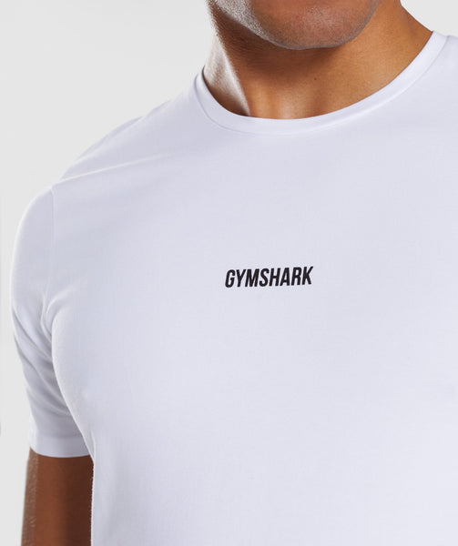 Gymshark Linear T-Shirt - White 4