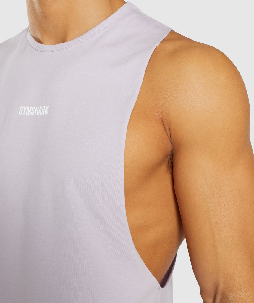 Gymshark Linear Tank - Purple Chalk 6