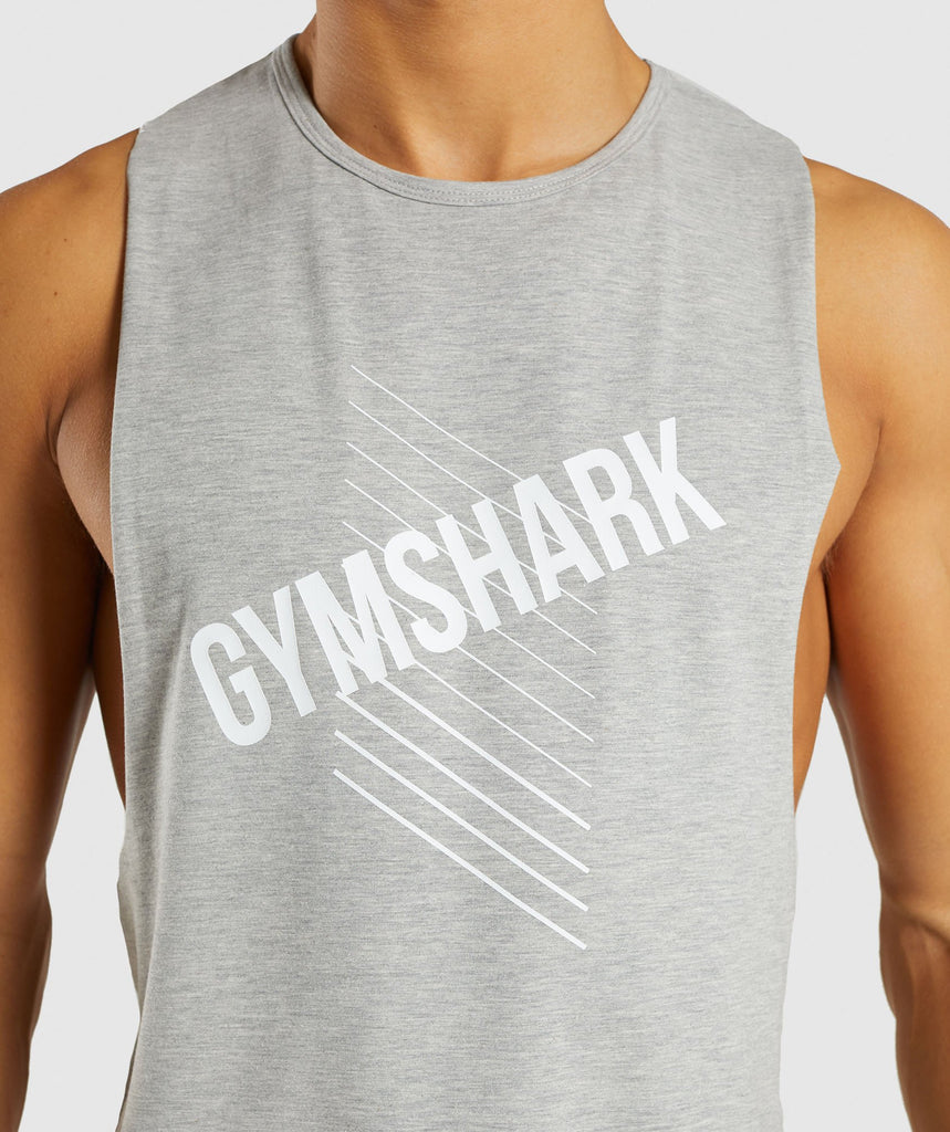Gymshark Score Tank - Light Grey Marl 6