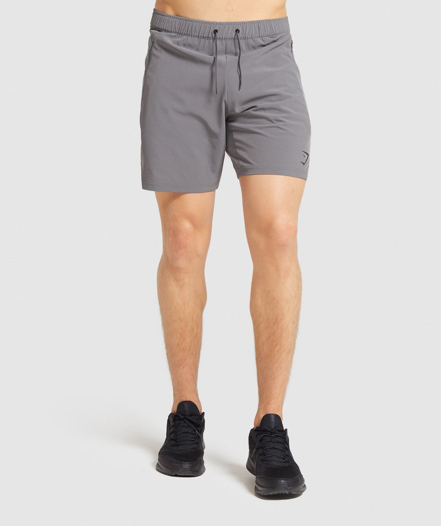 "Gymshark Element Hiit 7"" Shorts - Grey 1"