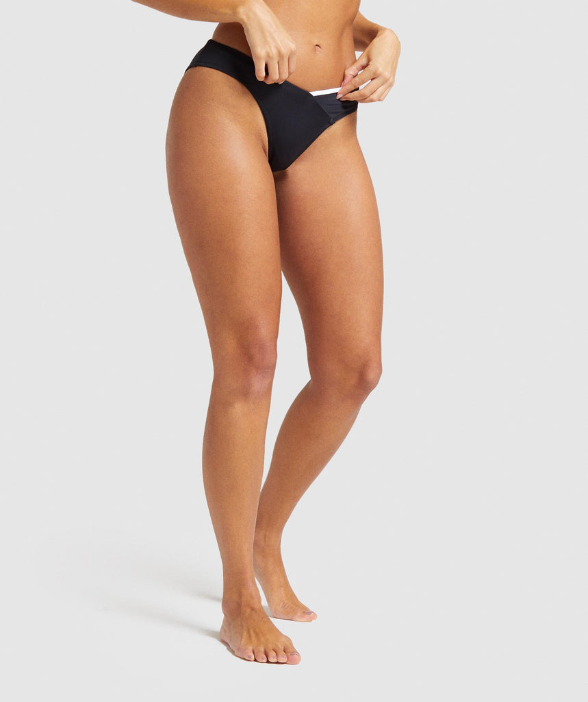 Gymshark Horizon Train Bikini Bottoms - Black 1