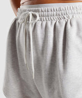 Gymshark Heather Dual Band Shorts - Light Grey Marl 12