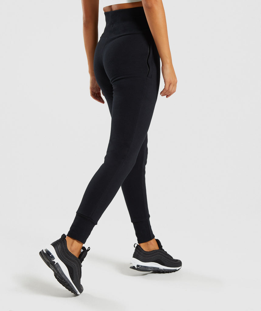 Gymshark High Waisted Joggers - Black 2