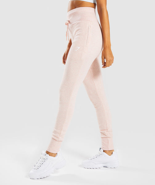 Gymshark High Waisted Joggers - Blush Nude Marl 4