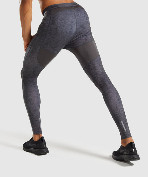 Gymshark Hybrid Baselayer Leggings - Charcoal Marl 1