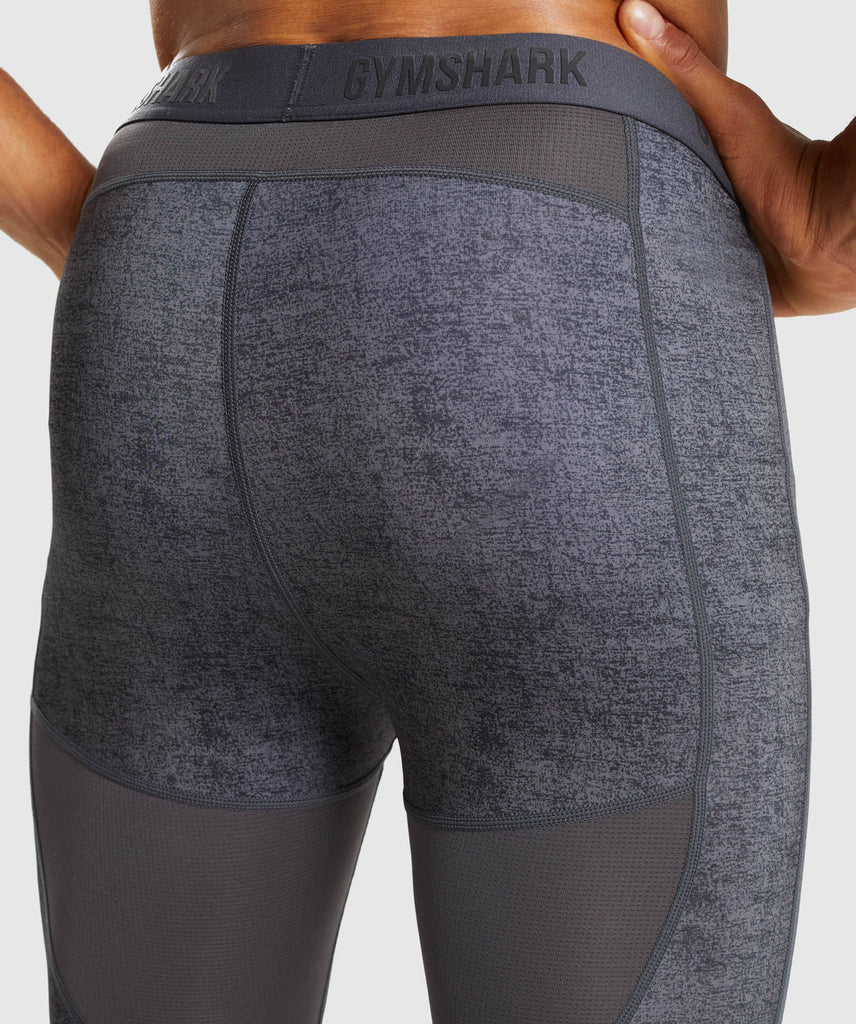 Gymshark Hybrid Baselayer Leggings - Charcoal Marl 6