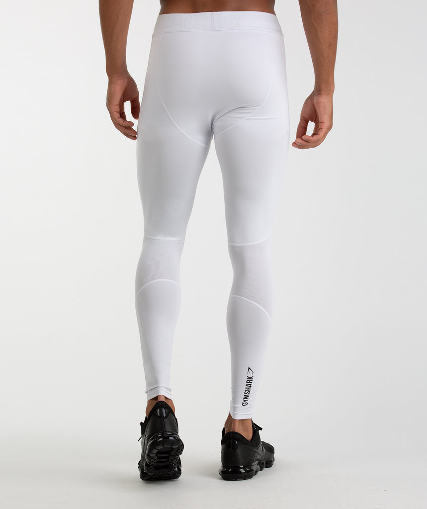 Gymshark Element Baselayer Leggings - White 2
