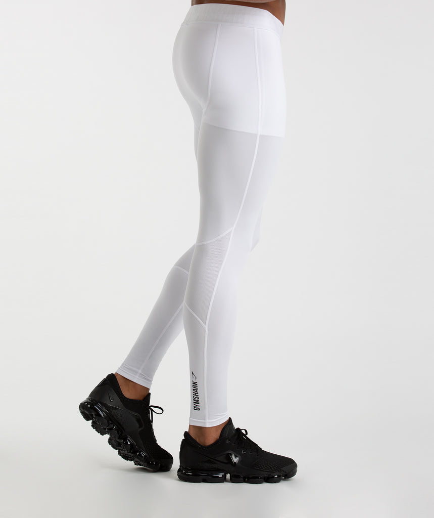 Gymshark Element Baselayer Leggings - White 5