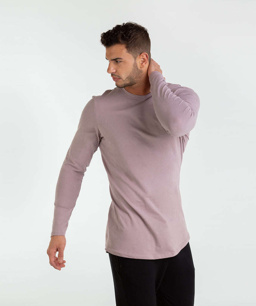 Gymshark Living Long Sleeve T-Shirt - Purple Chalk 4