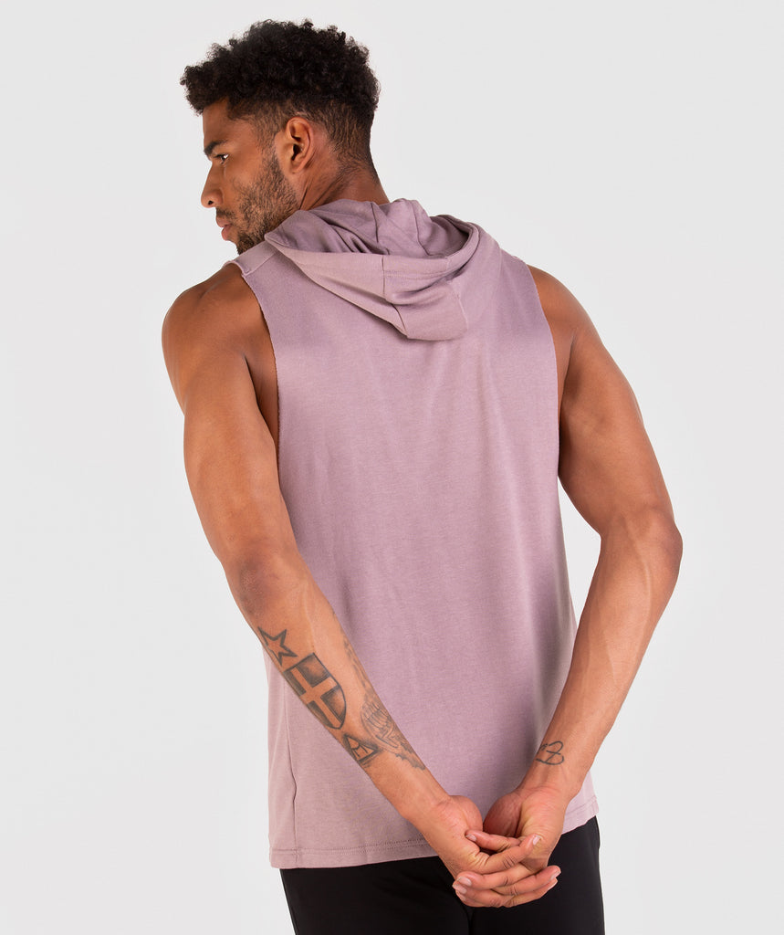 Gymshark Drop Arm Sleeveless Hoodie - Purple Chalk 2