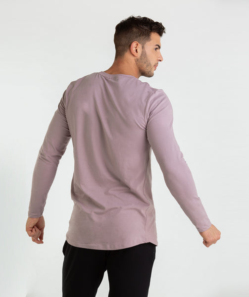 Gymshark Living Long Sleeve T-Shirt - Purple Chalk 1