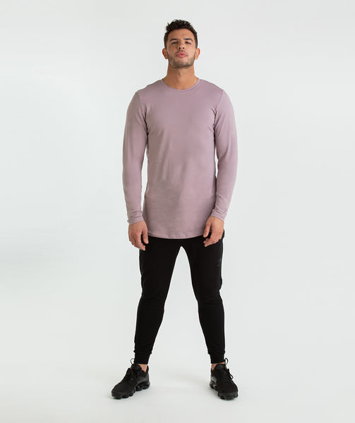Gymshark Living Long Sleeve T-Shirt - Purple Chalk 3