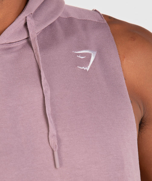 Gymshark Drop Arm Sleeveless Hoodie - Purple Chalk 3