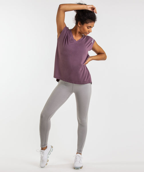 Gymshark Pleat Back Tee - Purple Wash 3