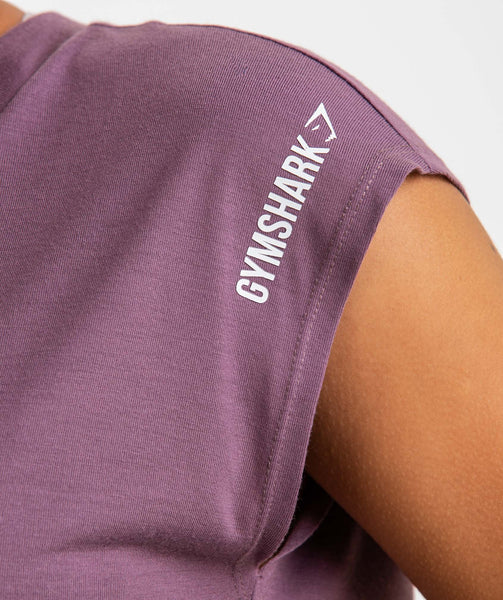 Gymshark Pleat Back Tee - Purple Wash 4