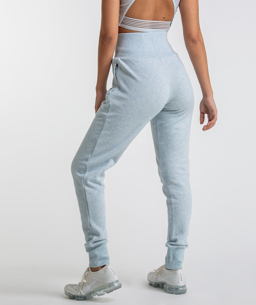 Gymshark High Waisted Joggers - Ice Blue Marl 2