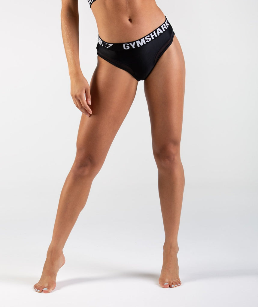 Gymshark Charge Sports Bikini Bottoms - Black 4