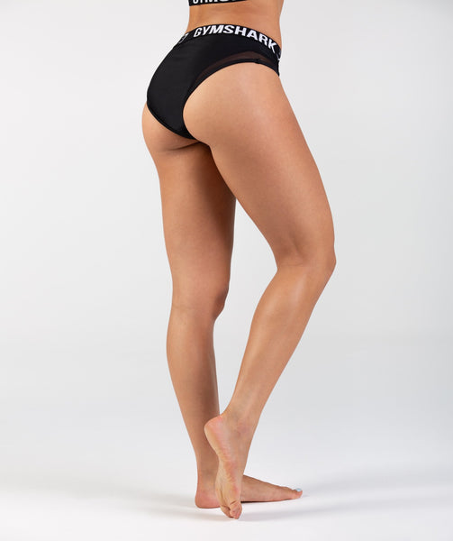 Gymshark Charge Sports Bikini Bottoms - Black 1