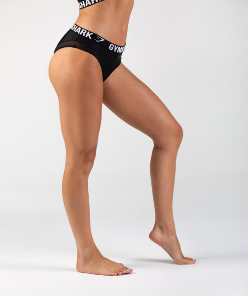 Gymshark Charge Sports Bikini Bottoms - Black 3