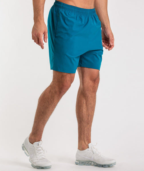 Gymshark Capital Shorts - Deep Teal 1