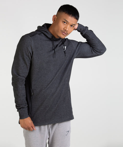 Gymshark Take Over Pullover - Black Marl 4