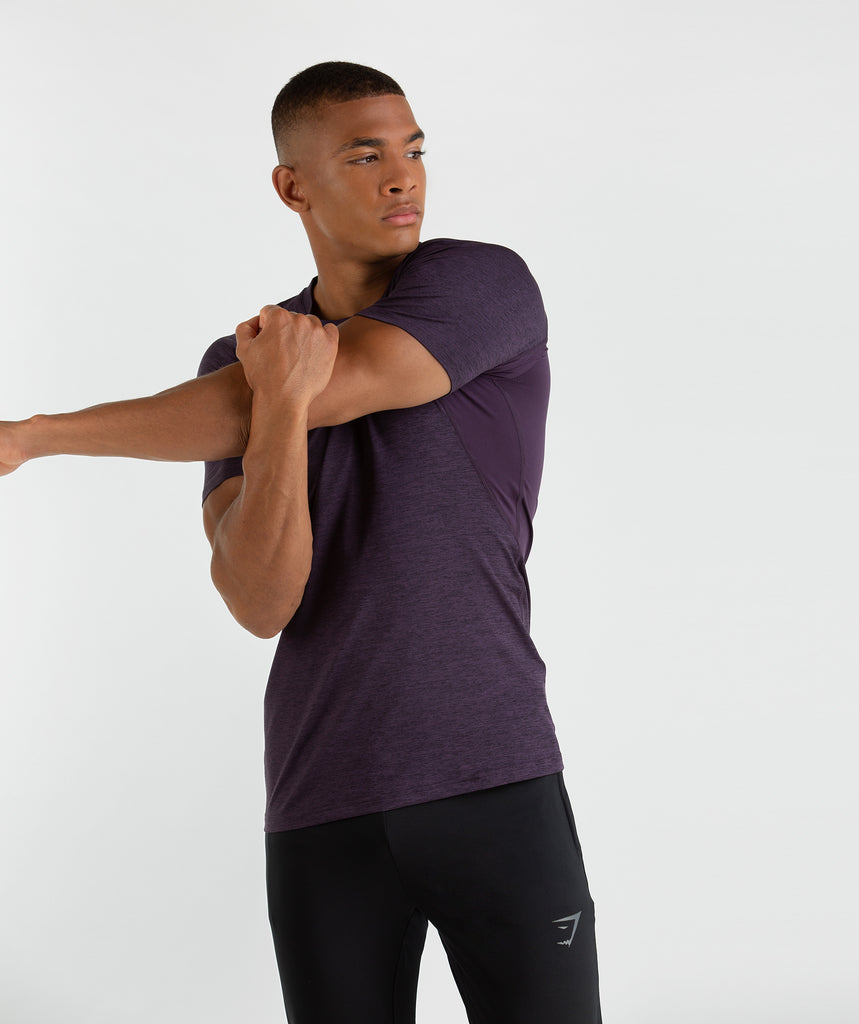 Gymshark Vertex T-Shirt - Nightshade Purple Marl 2