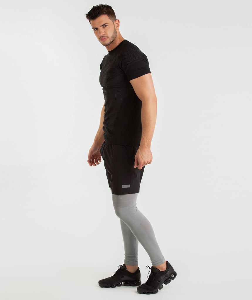 Gymshark Onyx Imperial Leggings - Light Grey 2