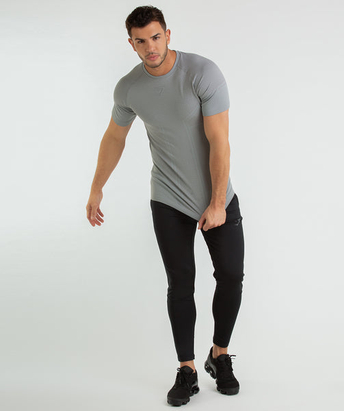 Gymshark Onyx Imperial T-Shirt - Light Grey 3