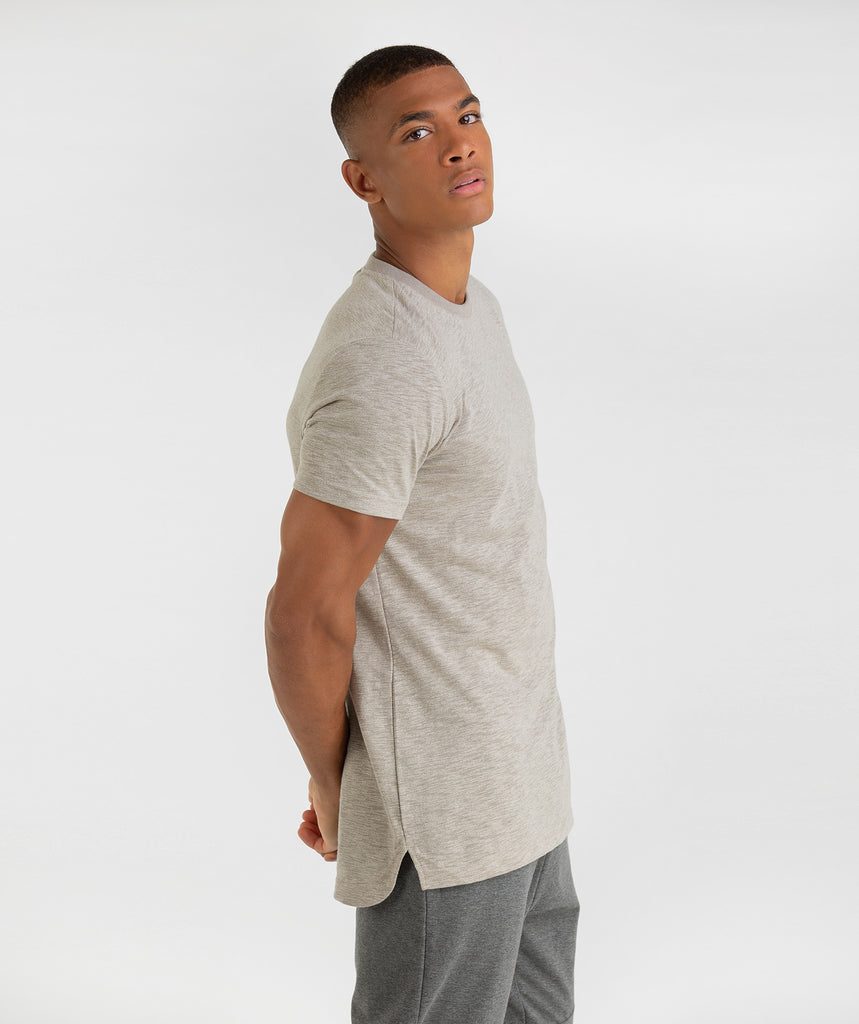 Gymshark Heather T-Shirt - Vintage Khaki 1