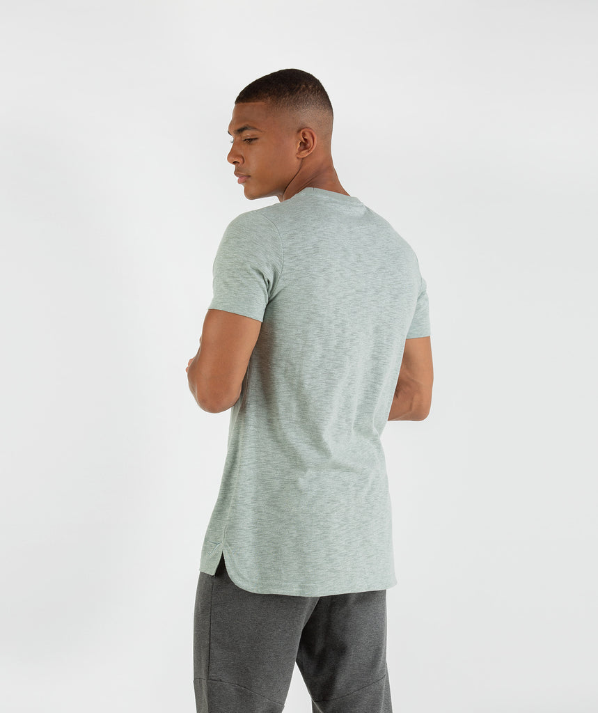 Gymshark Heather T-Shirt - Autumn Green Marl 2