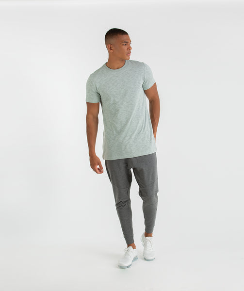 Gymshark Heather T-Shirt - Autumn Green Marl 3