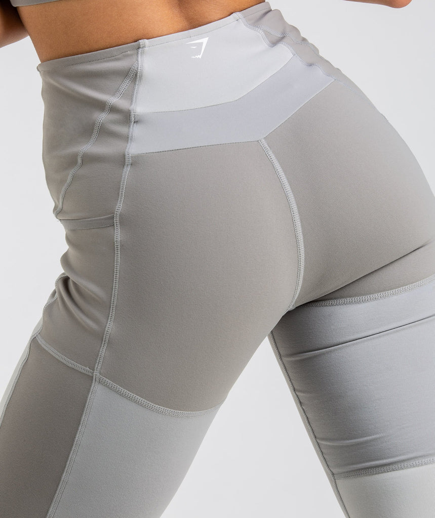 Gymshark Tonal Block Leggings - Light Grey 6