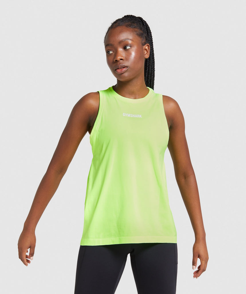 Gymshark Illumination Seamless Tank - Lime 1
