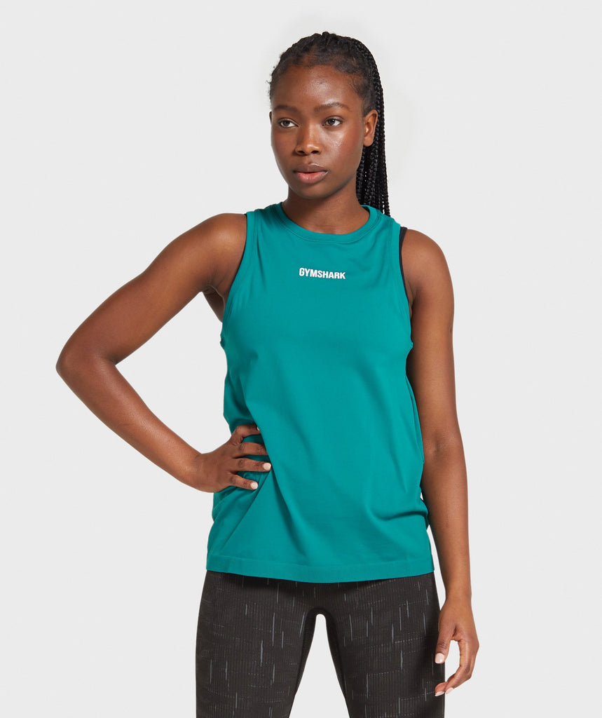 Gymshark Illumination Seamless Tank - Emerald 1