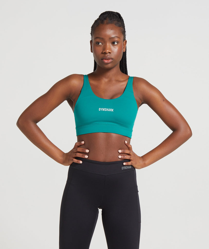 Gymshark Illumination Sports Bra - Emerald 1
