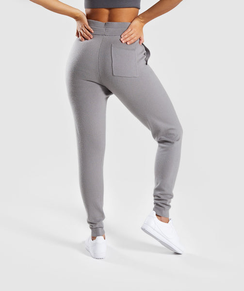 Gymshark Isla Knit Jogger -  Light Grey 1
