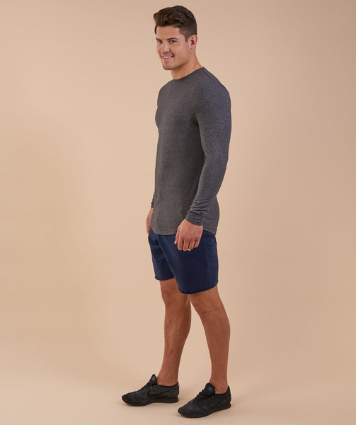 Gymshark Solace Longline Long Sleeve T-shirt - Charcoal Marl 1