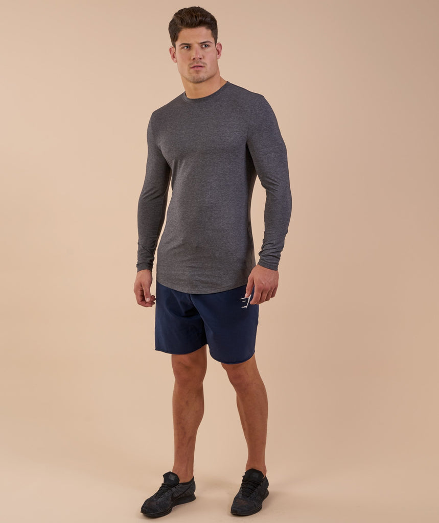 Gymshark Solace Longline Long Sleeve T-shirt - Charcoal Marl 6
