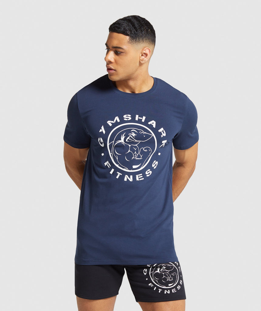 Gymshark Legacy T-Shirt - Dark Blue 1