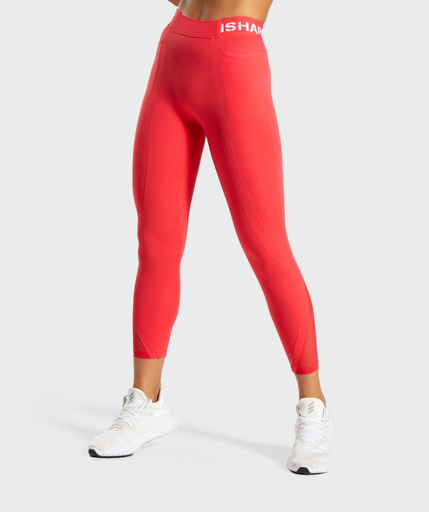 Gymshark Legacy Fitness 7/8 Leggings - Red 1