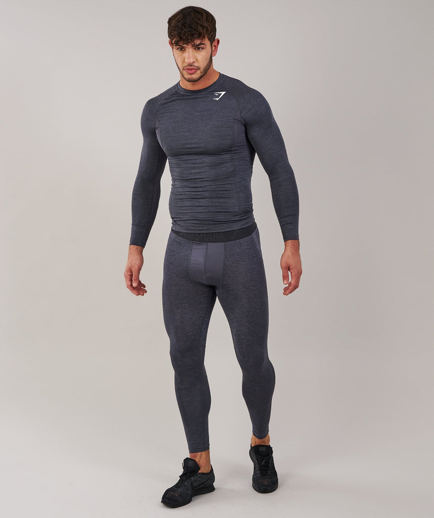 Gymshark Element Baselayer Long Sleeve Top - Charcoal Marl 1