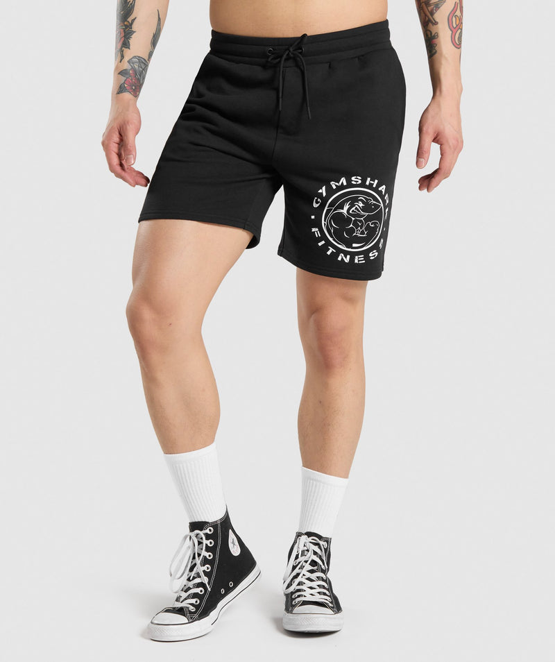 Gymshark Legacy Shorts - Black/White